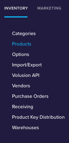 volusion product count